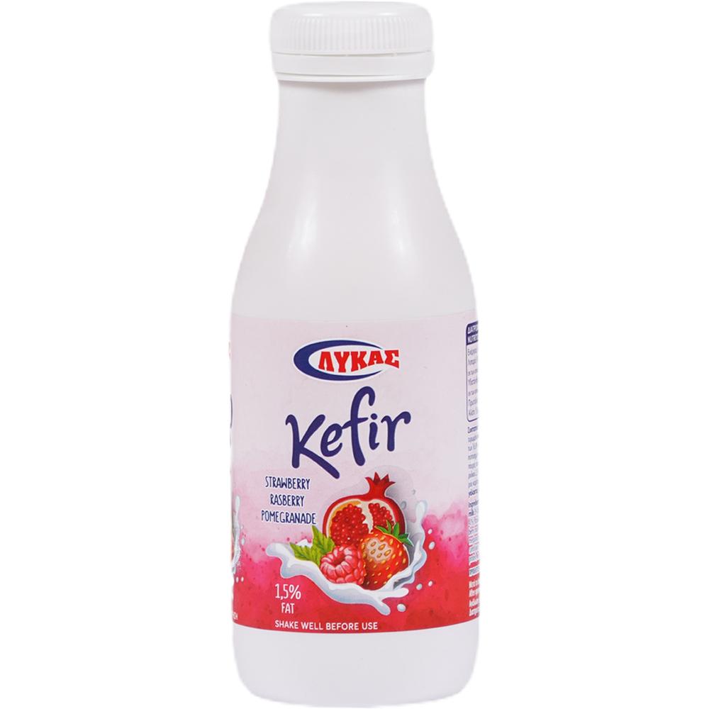 Kefir with Strawberry Raspberry & Pomegranate